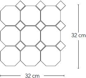 Art Deco Ottag. Alluminio op matje 30x30 invullen kleur taco CS3201 € 129,95 m²-2