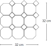 Art Deco Ottag. Carbonio op matje 30x30 invullen kleur taco CS3206 € 139,95 m²-2