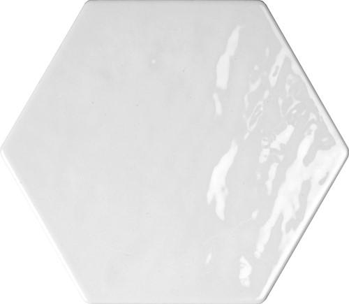 Monochroom Hexagon Wit Brillo 16x18 HW1601 € 59,95 m²