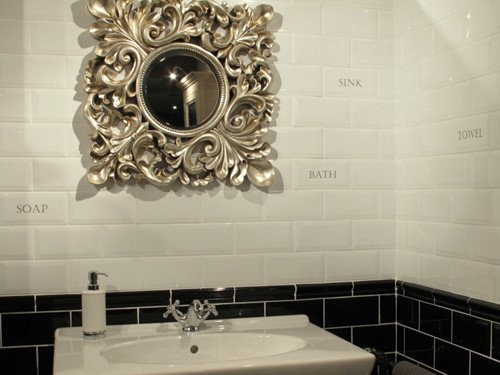 Grand Metro Words Sink Old White 10x20 GM1811 € 4,95 st.-2