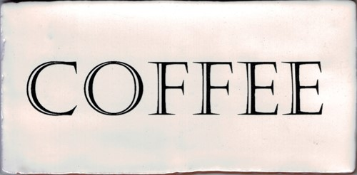 Kent Words Coffee Old White 7,5x15 KE1803 € 4,95 st.