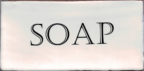 Kent Words Soap Old White 7,5x15 KE1812 € 4,95 st.
