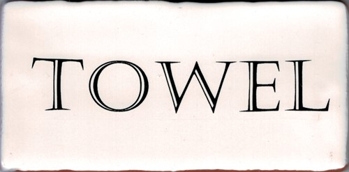 Kent Words Towel Old White 7,5x15 KE1813 € 4,95 st.
