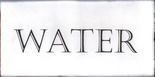 Kent Words Water Snow White 7,5x15 KE0114 € 4,95 st.