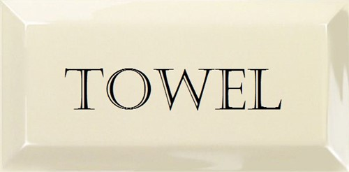 Grand Metro Words Towel Old White 10x20 GM1813 € 4,95 st.