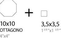 Art Deco Ottagono Gres 10x10 CS8009 € 84,95 m²-2