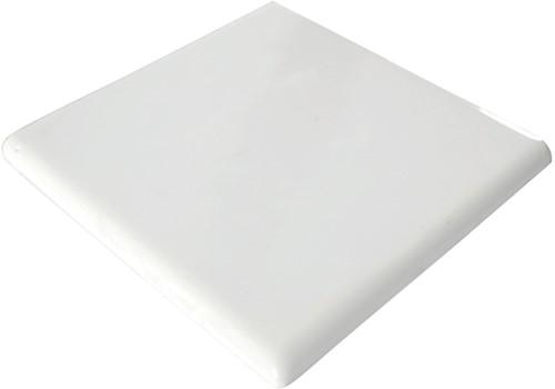 Afdektegel 13x13 2 kanten Wit AFDEK2 € 6,95 st.