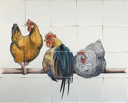 3 Kippen op stok 65x52 TH20-1 € 779,95 st.
